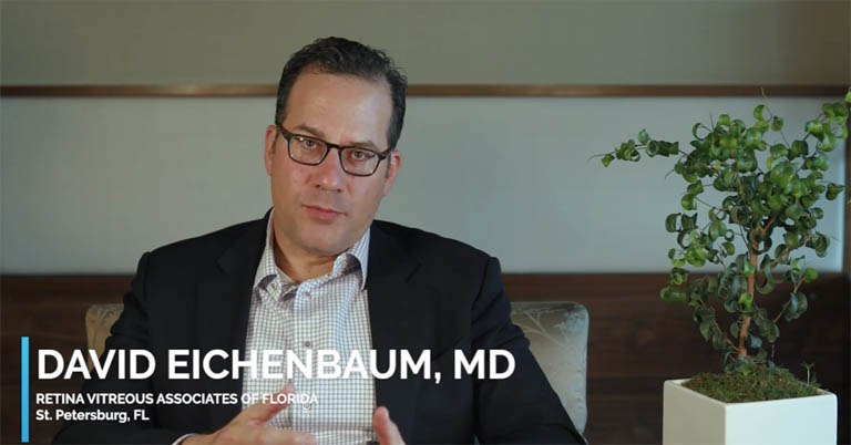 Video thumbnail of Dr. David Eichenbaum discussing ideal patient, use and follow-up care for YUTIQ.