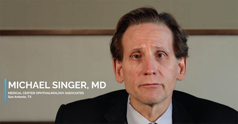 Video thumbnail of Dr. Michael Singer discussing the ideal patient, use and follow-up for YUTIQ and performs a YUTIQ injection on an actual patient.
