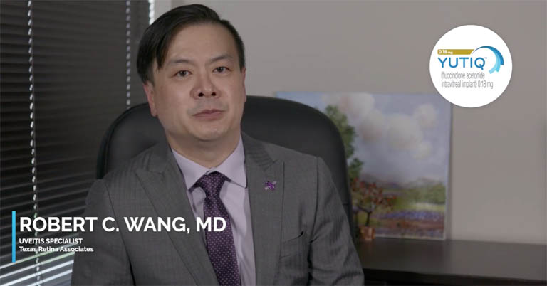 Video thumbnail of Dr. Robert Wang discussing treatment challenges for chronic, non-infectious uveitis, referring patients and comanagement with other uveitis specialists.