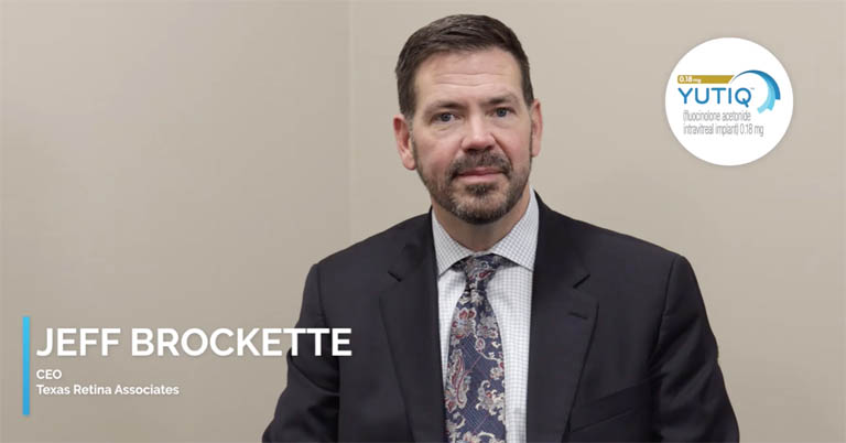 Video thumbnail of CEO Jeff Brockette discussing Eye Point support and the initial steps to start YUTIQ®
